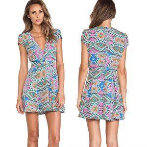 Lovers + Friends Cassidy Dress Mosaic Print Dress